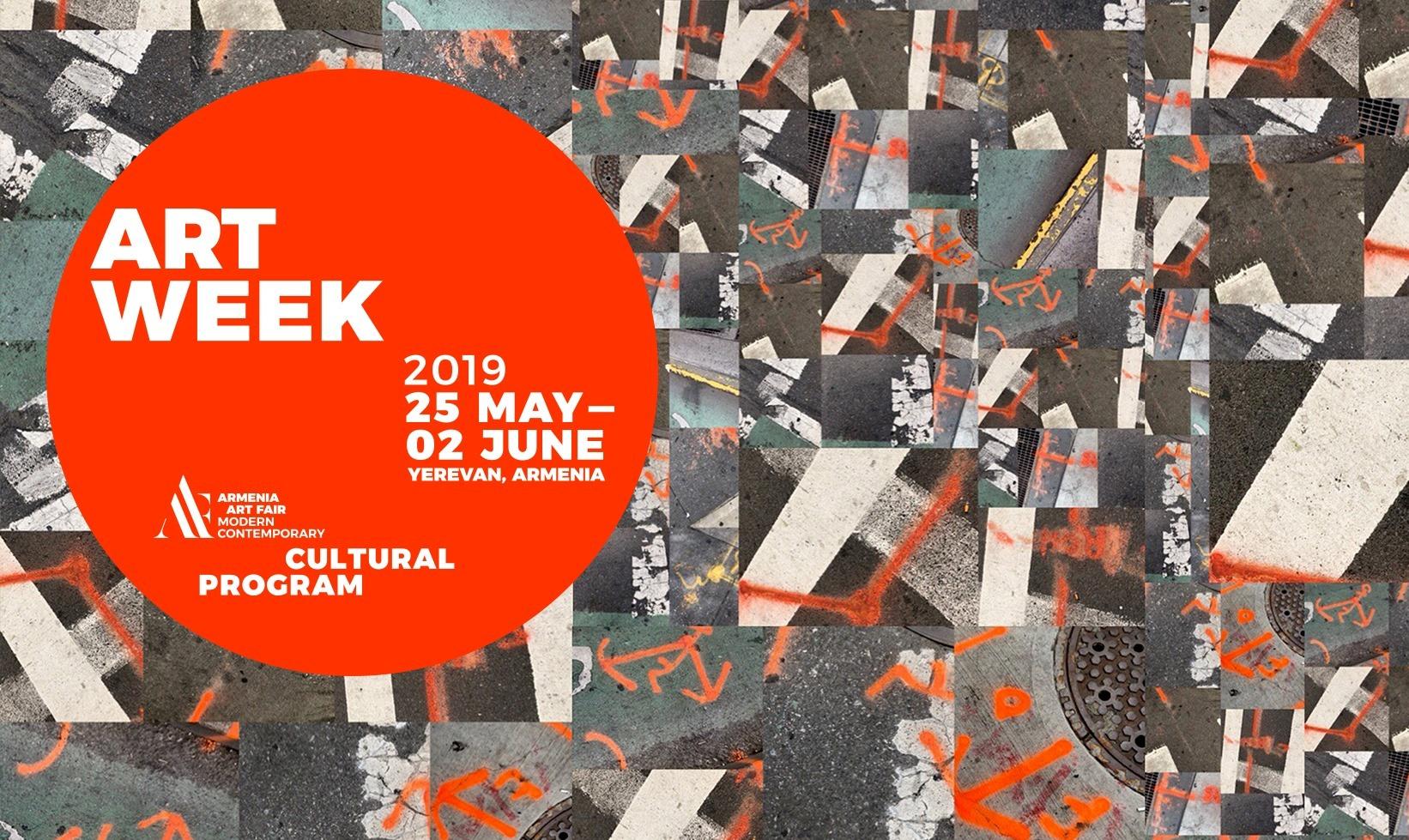 Programm Goethe-Zentrum Jerewan in Zusammenarbeit der Art Week und des Are Performing Arts Festival, sowie der Armenian Art Fair 2019