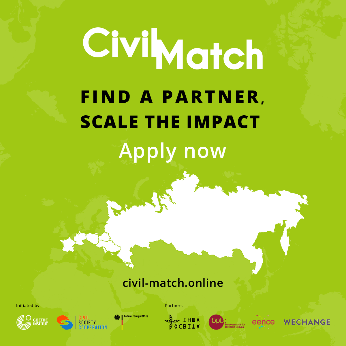 Open Call: Civil Match: A Network for Civil Society Expanding Cooperation in the Eastern Partnership Countries and Russia